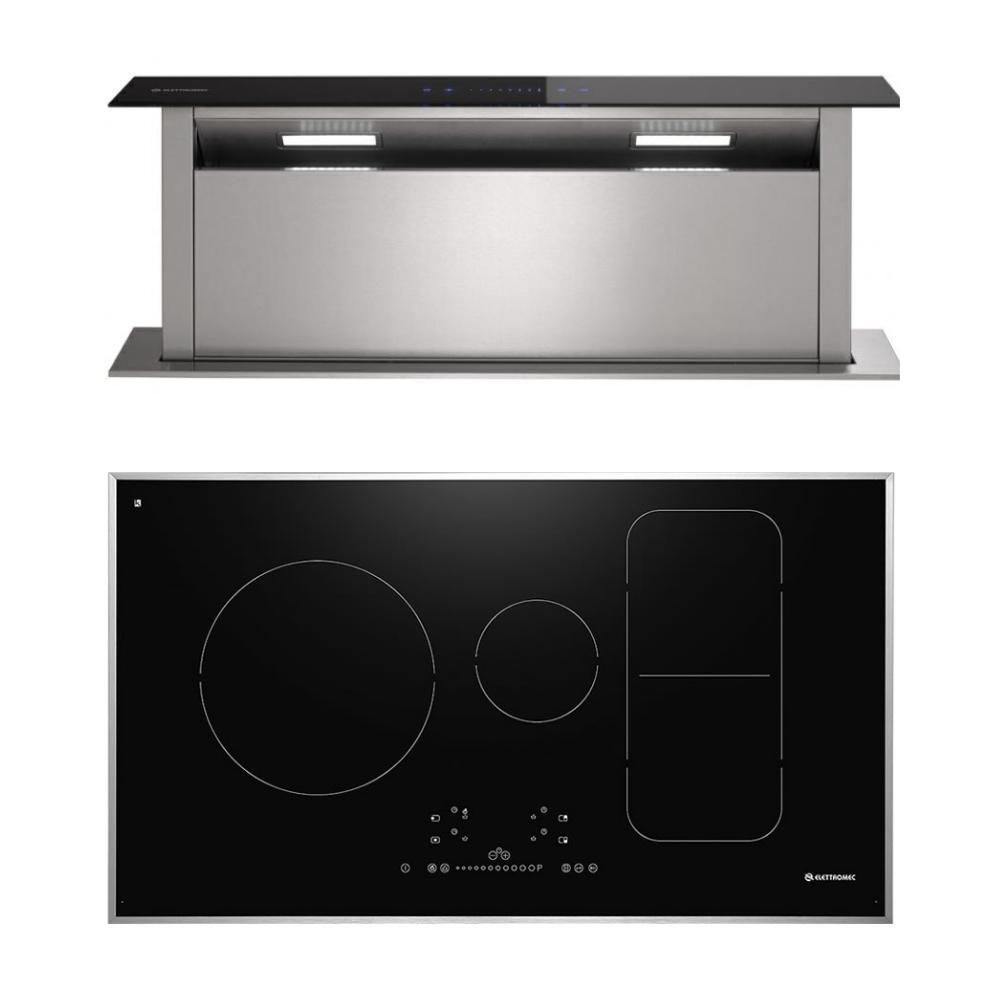 Conjunto Promocional Cooktop e Coifa Sollevare Elettromec