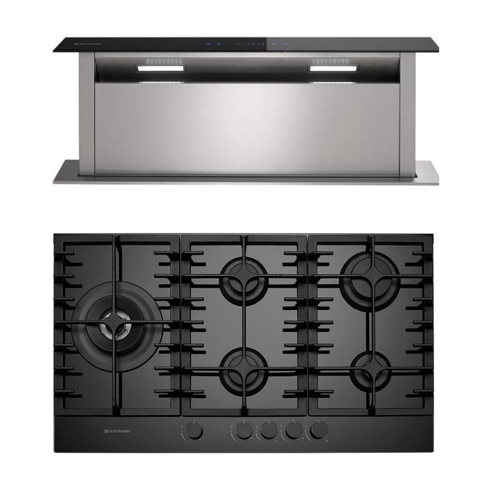 Conjunto Gourmet Elettromec: Coifa Sollevare e Cooktop