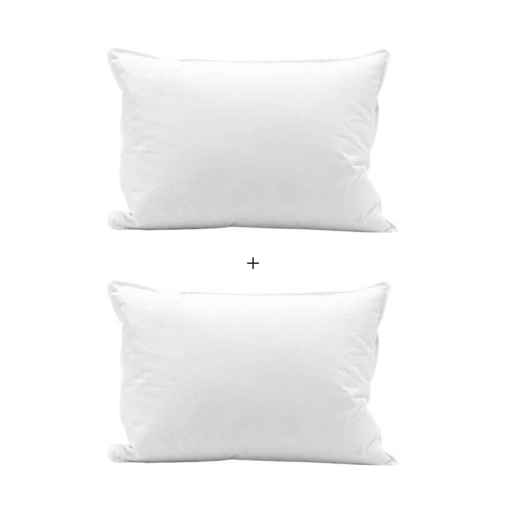 Conjunto Travesseiros Plumas e Penas de Ganso Plumasul 50x70