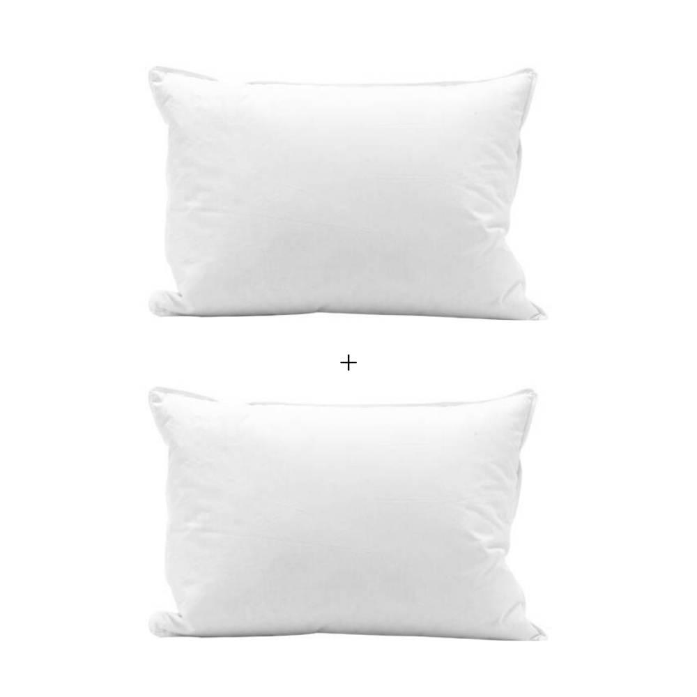 Conjunto Travesseiros 20% Plumas e 80% Penas de Ganso 50x70