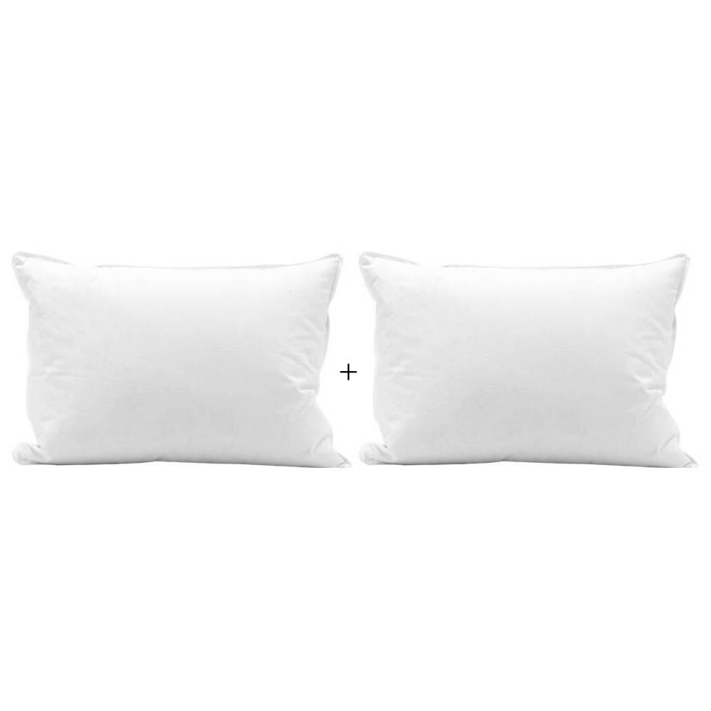 Travesseiros Plooma 100% Plumas de Ganso 50x70 Promoção Kit