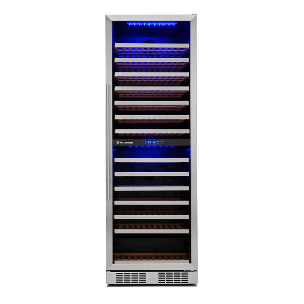 Adega 154 Garrafas Dual Zone Built-In Elettromec 127V/220V