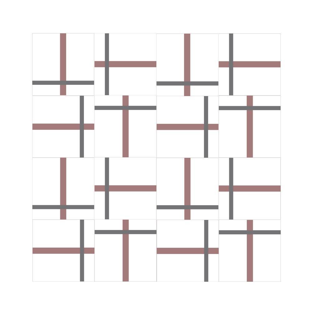 Azulejo Decorado Linhas Cross Design Márcio Pontes Vizta