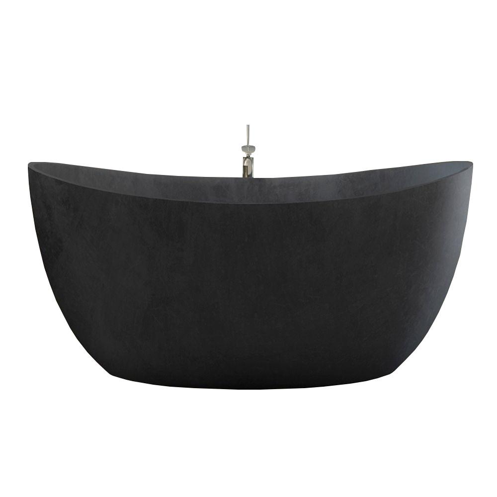 Banheira de Imersão Sampa Cinza com Acabamento Rústico Sabbia