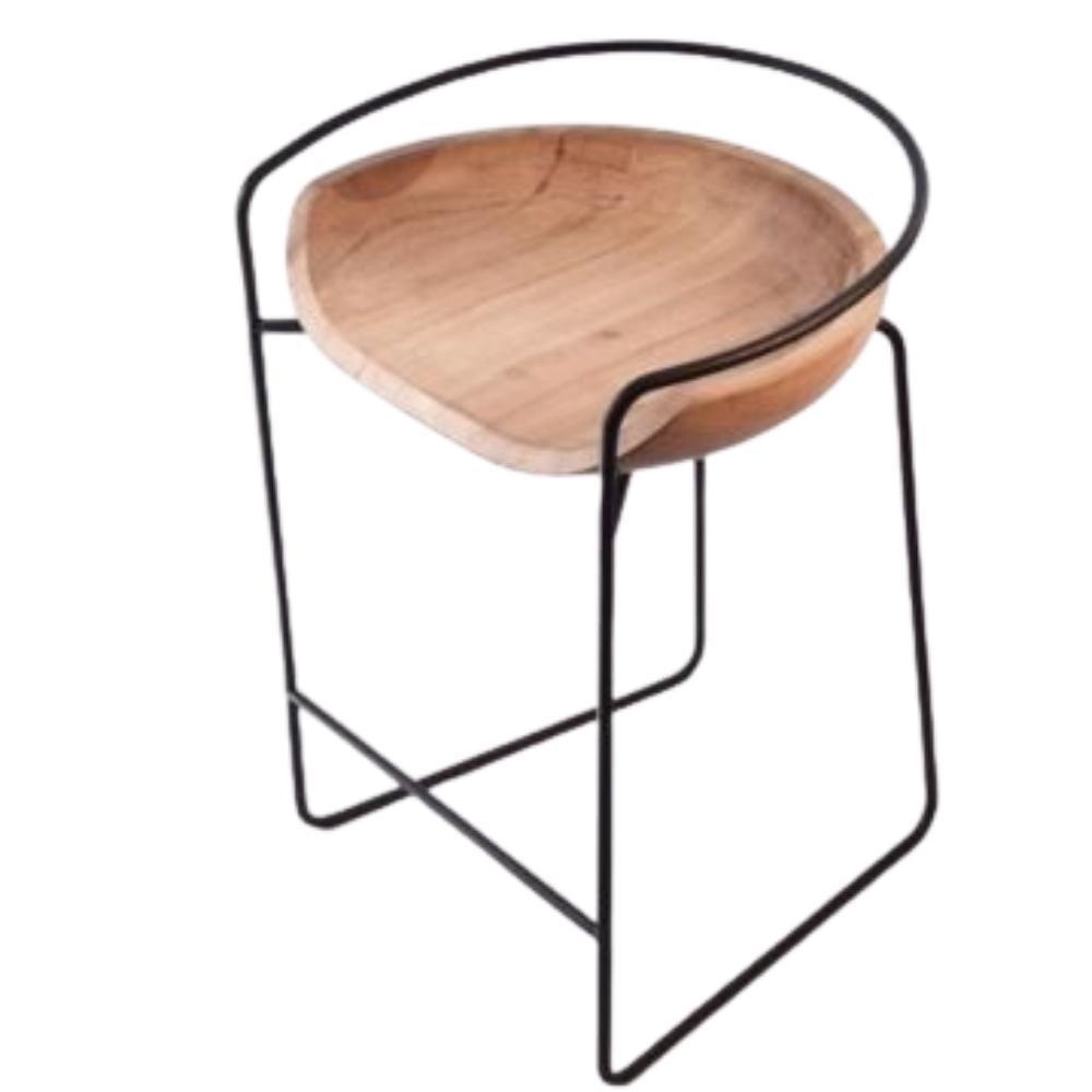 Banqueta Bowl por Fyp Design Eduardo Vale Madeira e Aço
