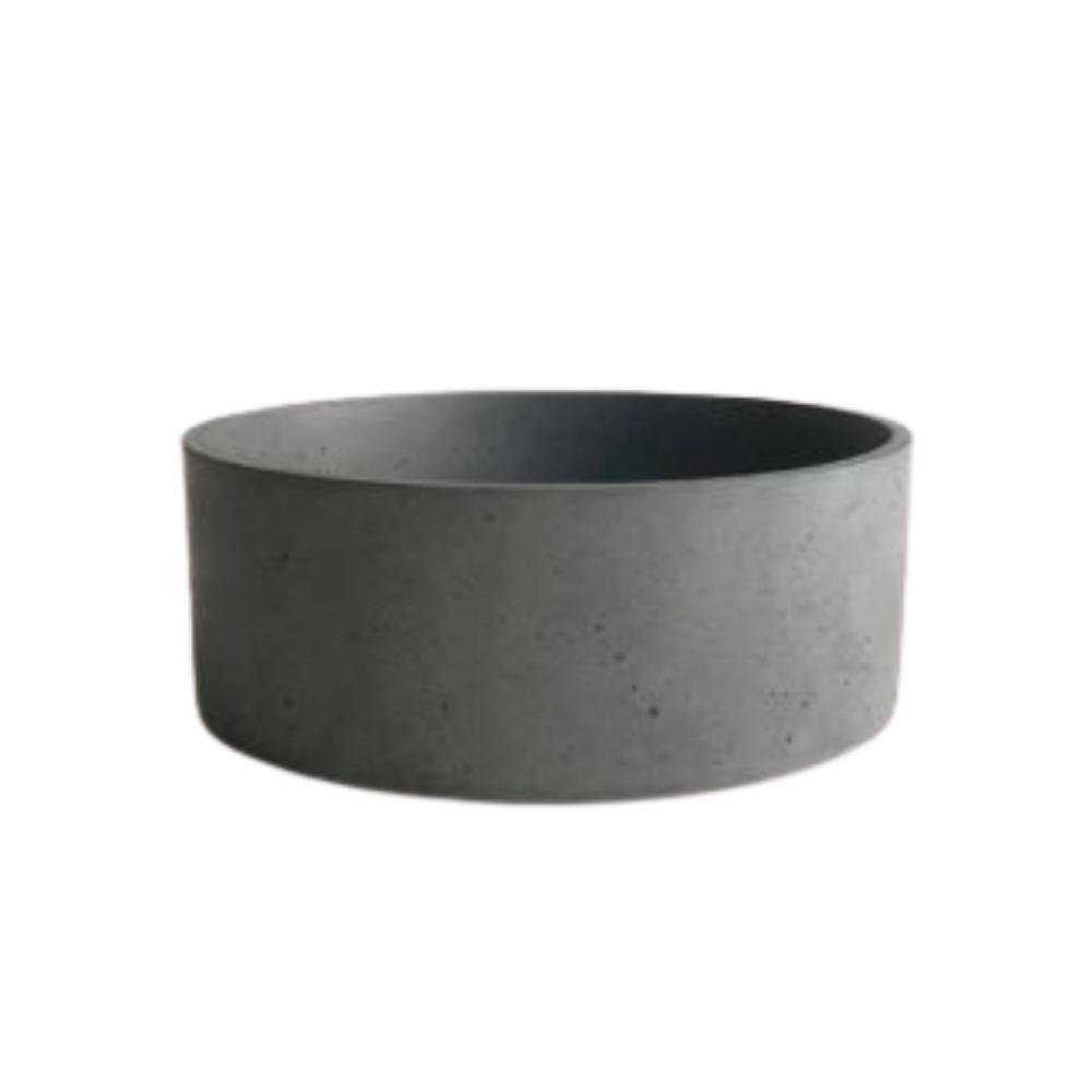 Cuba de Apoio Mini Round Concreto