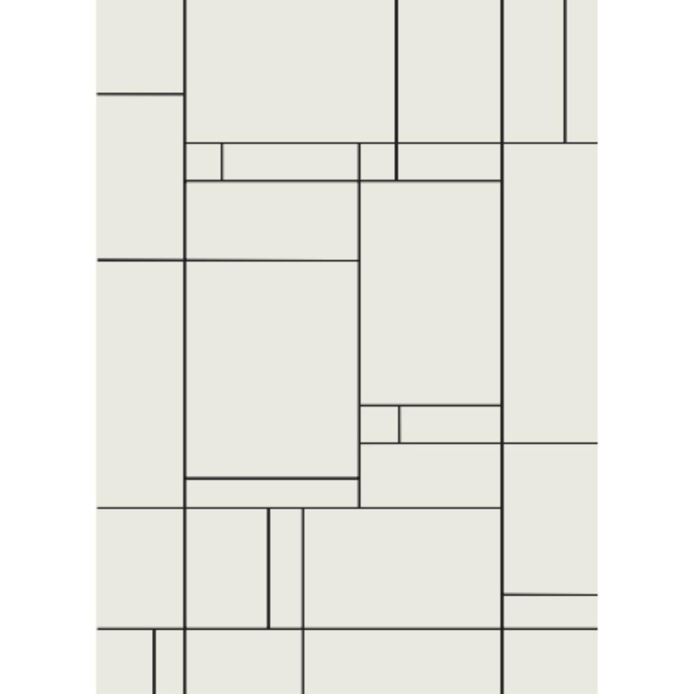 Tapete Minimalista Linhas Finas E Cubos Exclusivo Decoralle