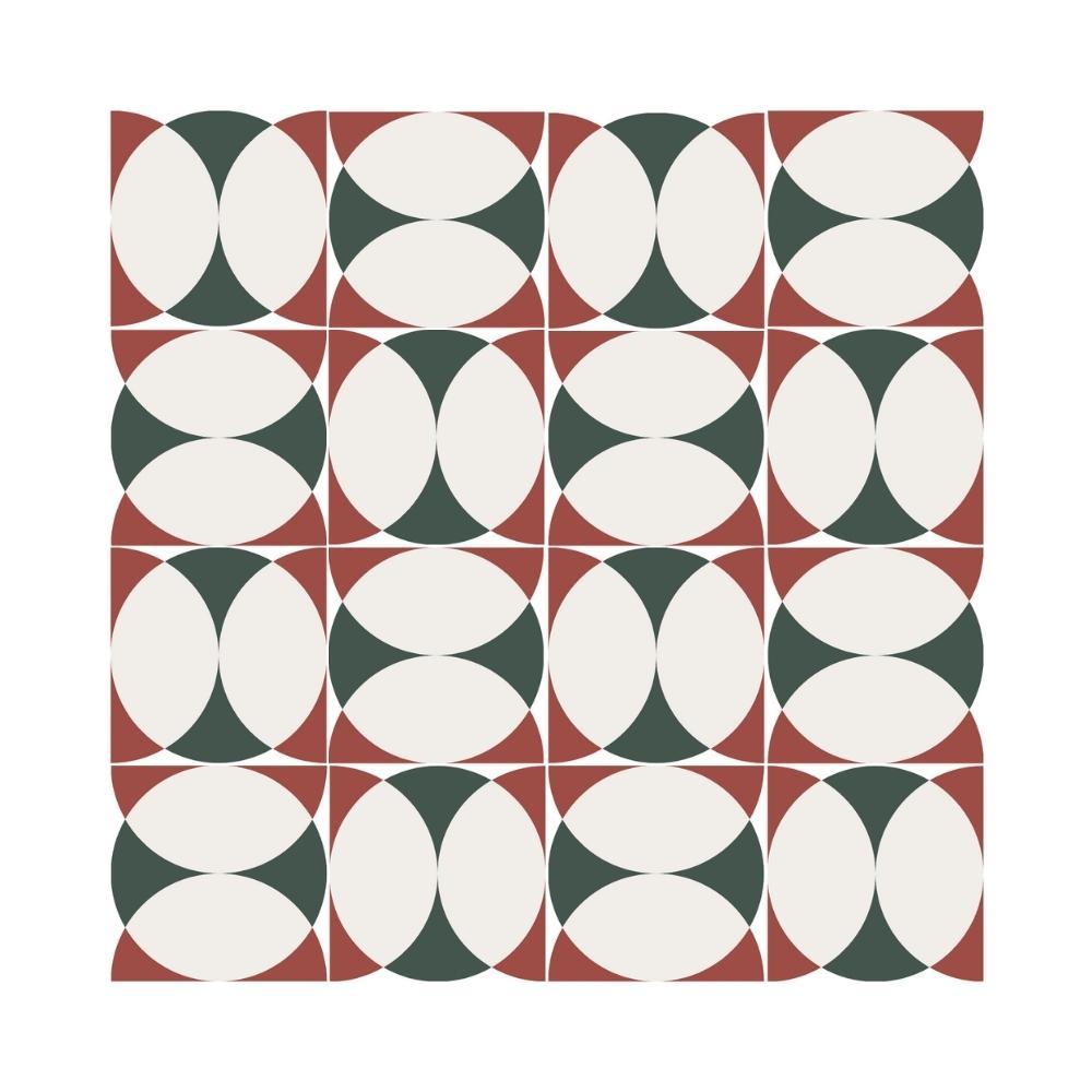 Ladrilho Hidráulico Abstrações 1 por Nathaly Domiciano | 20x20cm