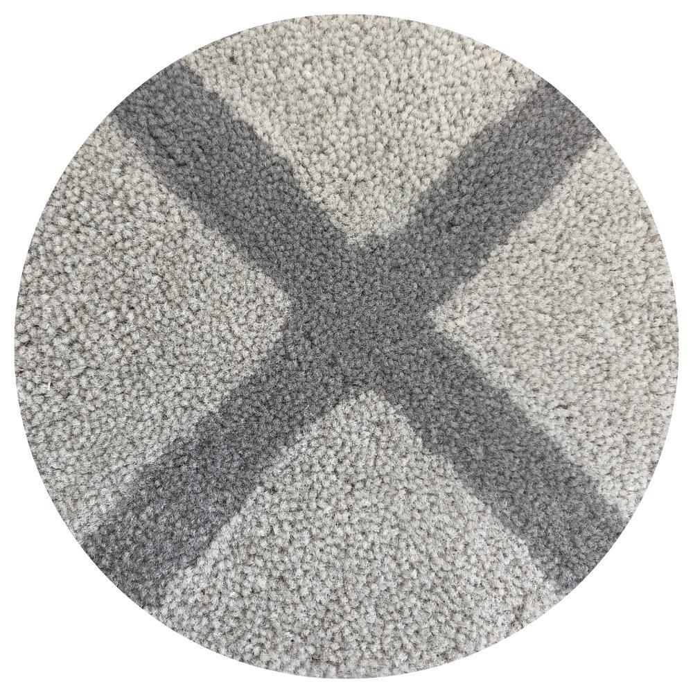 Tapete Artesanal Nylon Altura 10mm Duas Cores em Faixas