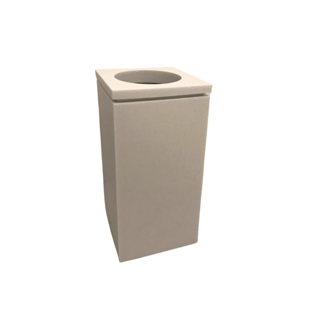 Lixo Lixeira Quadrada Com Tampa Vazada By Poli 3l 6l 8l Resina
