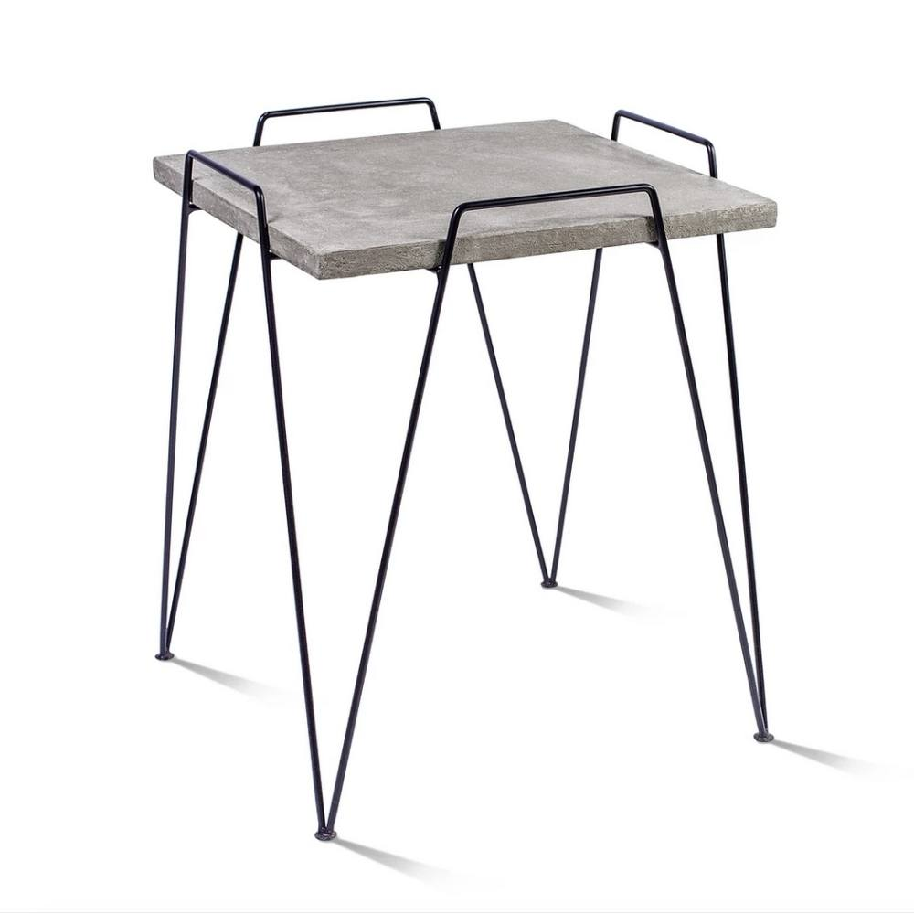 Mesa Lateral Grampo em Cimento Molio Design