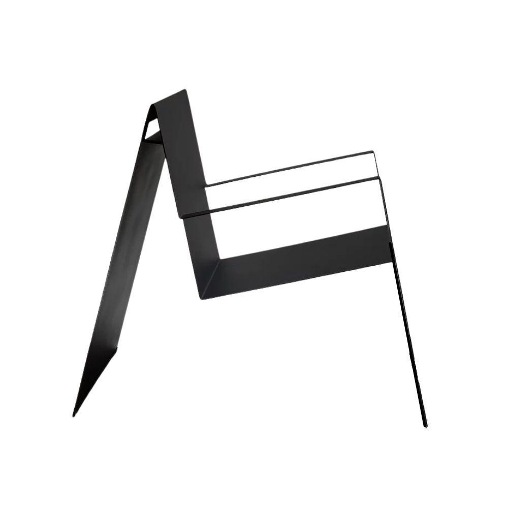 Poltrona Dobras Design Estúdio Niz Chapa Aço Carbono Minimal