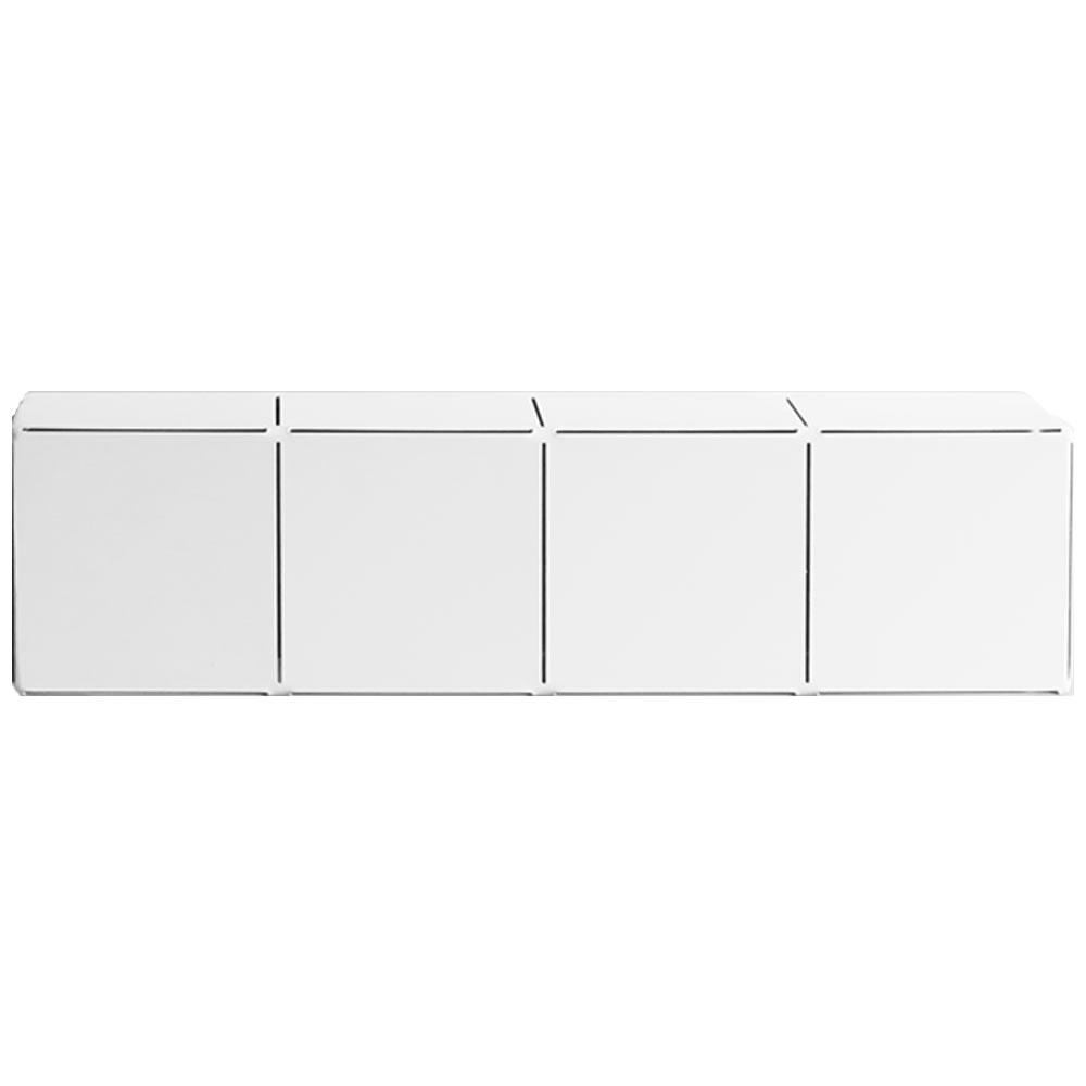Prateleira Block de aço com acabamento branco   Estúdio Parrado