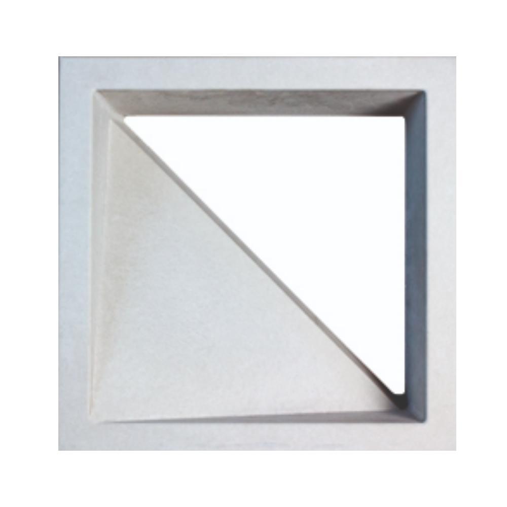 Cobogó Cimentício Vazado Triangulo Branco 30x30 Strutturare