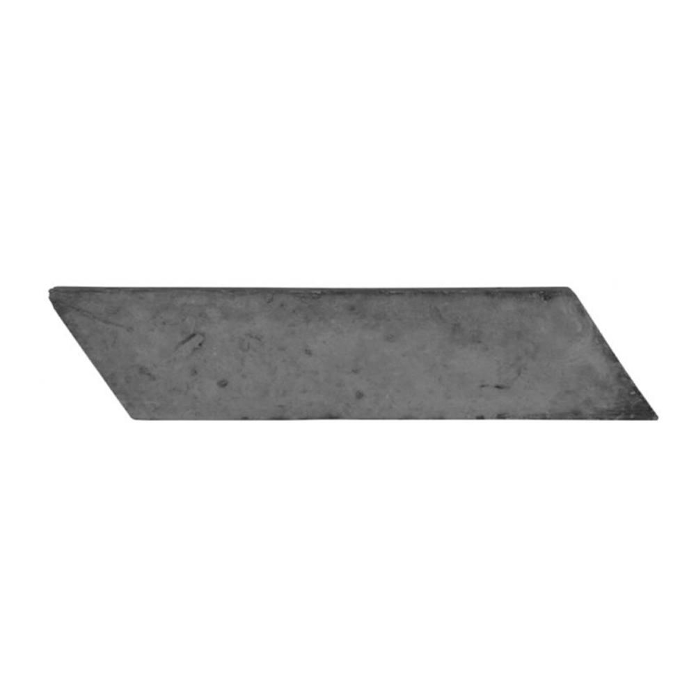 Revestimento Cimentício Gauss Rustic Cut Left Carvão