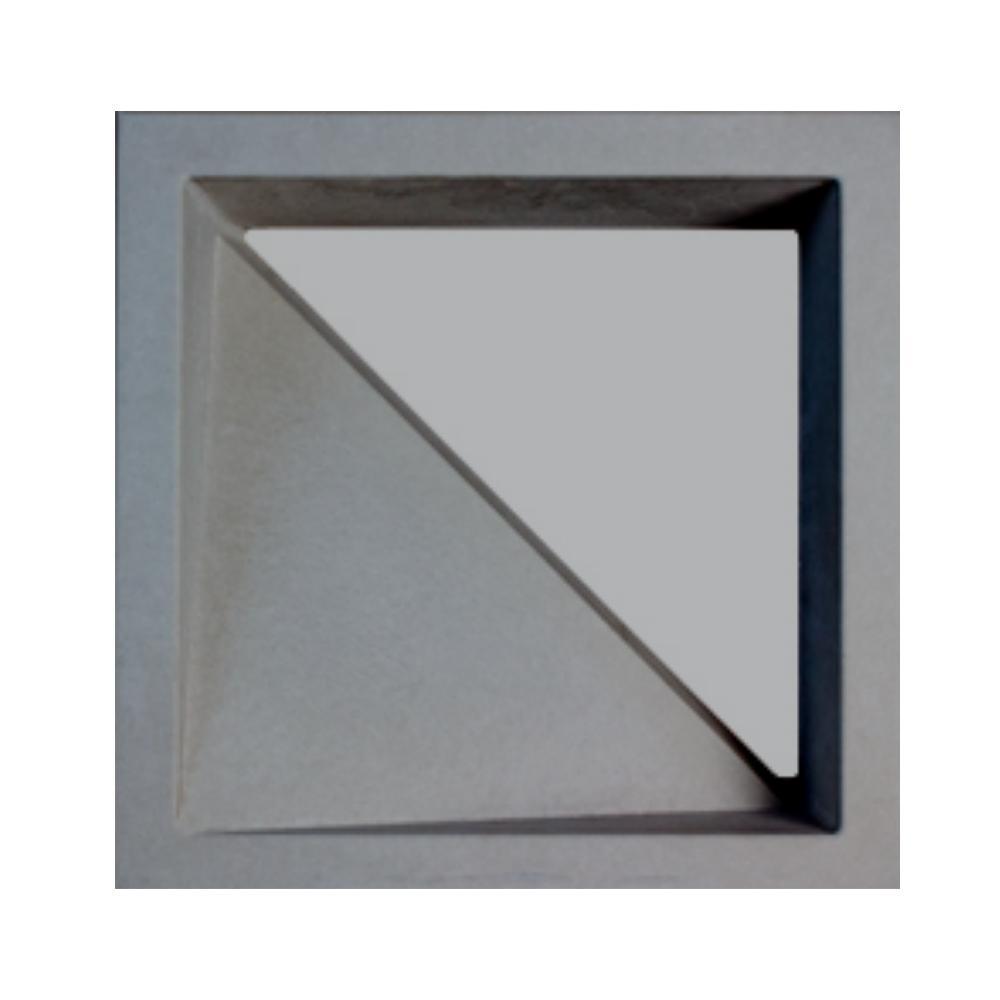 Cobogó Cimentício Vazado Triangular Cinza 30x30 Strutturare