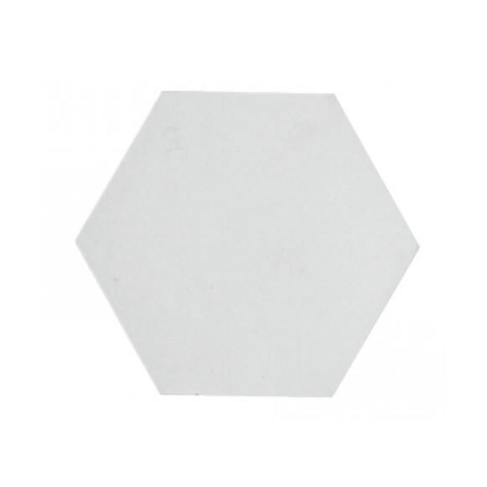 Revestimento Cimenticio Hexagonal Gauss Gradient Neve