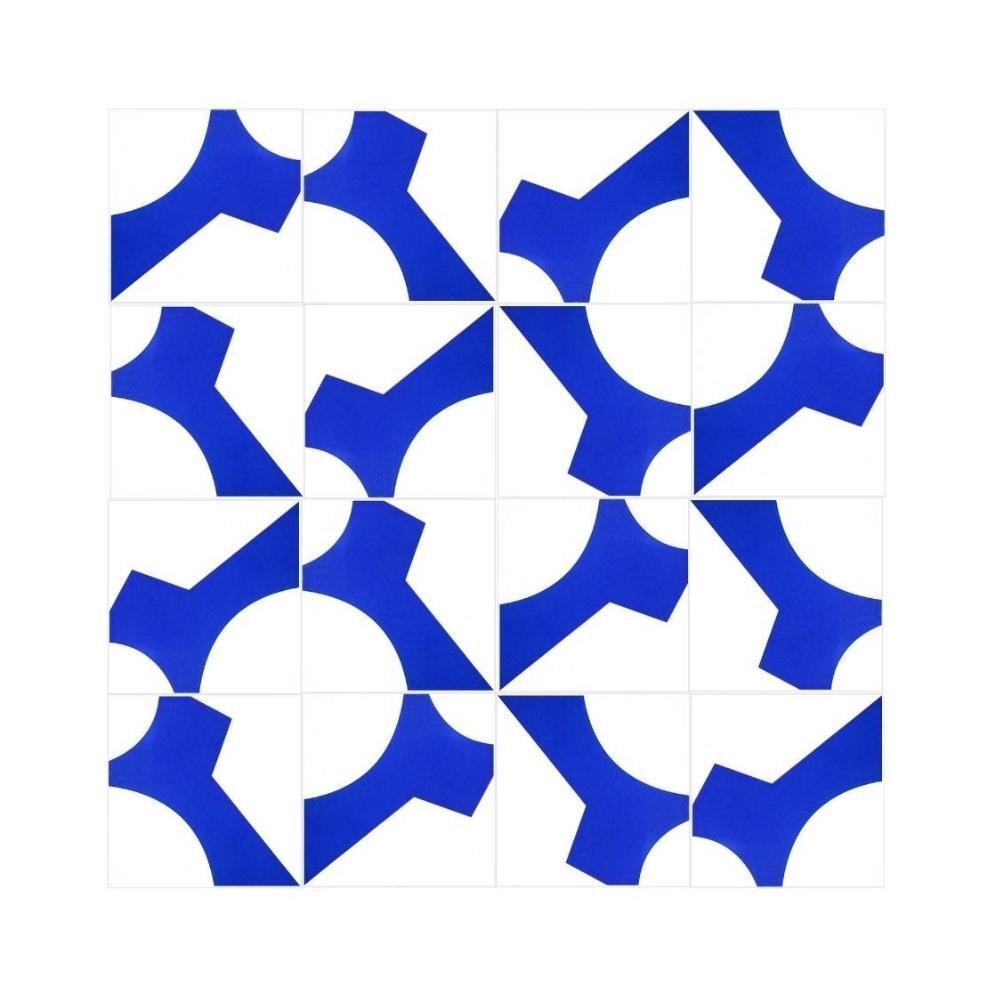 Revestimento de Parede Azulejo Decorado Cromo Paulo Niemeyer 15x15cm