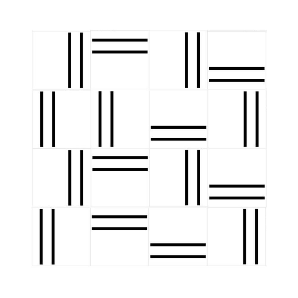Revestimento de Parede Azulejo Decorado Line Duplo 15x15cm