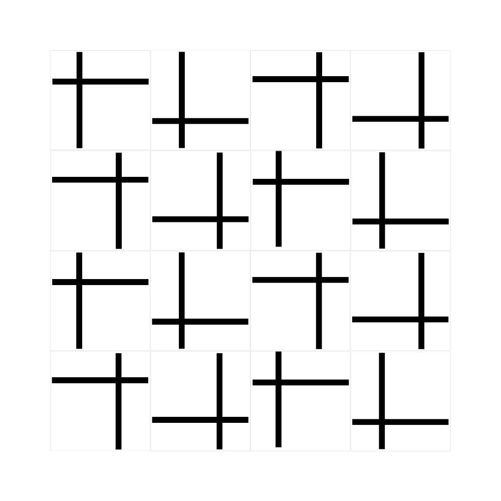 Revestimento de Parede Azulejo Decorado Line Duplo Cruzado 15x15cm