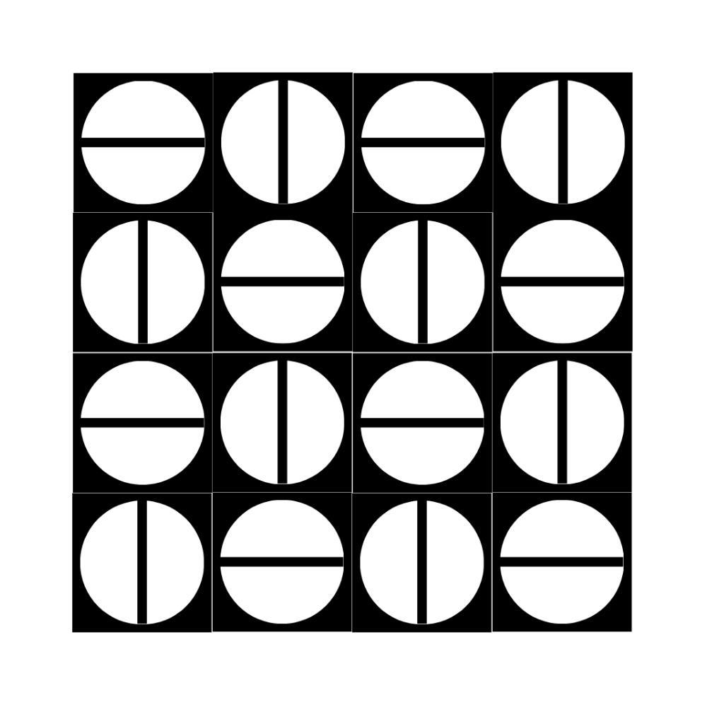 Revestimento de Parede Azulejo Decorado Screw Invertido 15x15cm