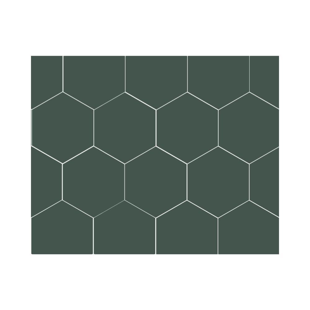 Ladrilho Hidráulico Hexagonal Cores Lisas Ladrilar
