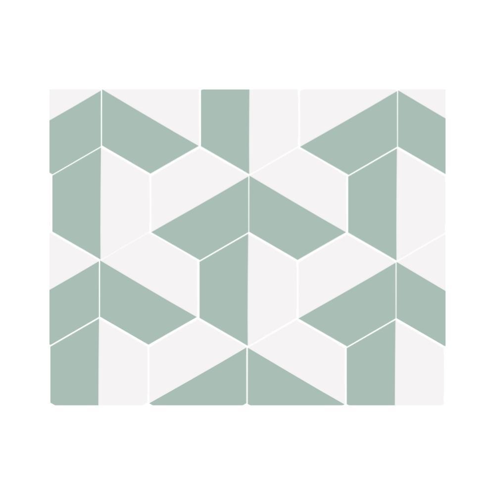 Ladrilho Hidráulico Hexagonal Face Ladrilar em Duas Cores