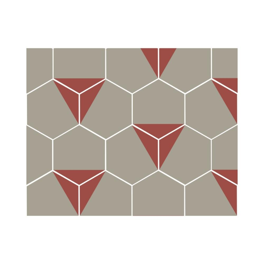 Ladrilho Hidráulico Hexagonal Triângulo Ladrilar em Concreto