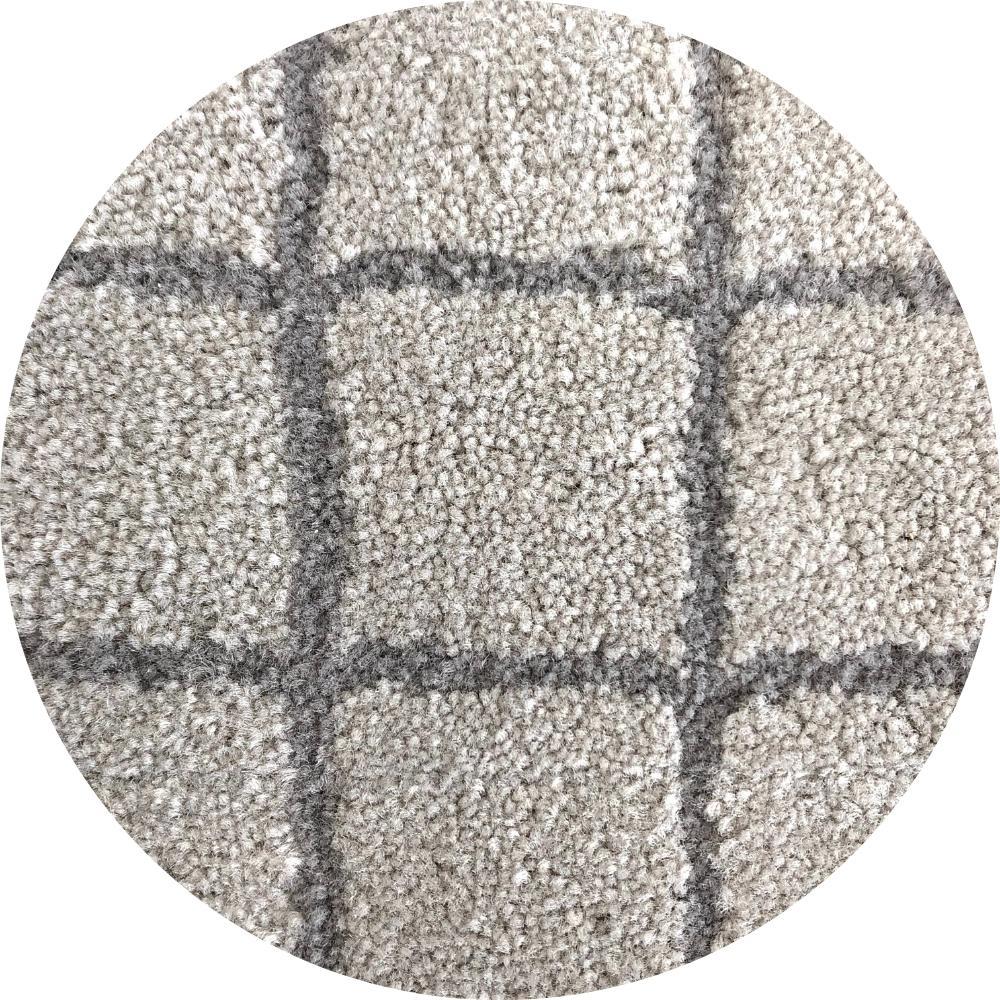 Tapete Artesanal Nylon Linhas Retas Cruzadas 10mm 2 cores