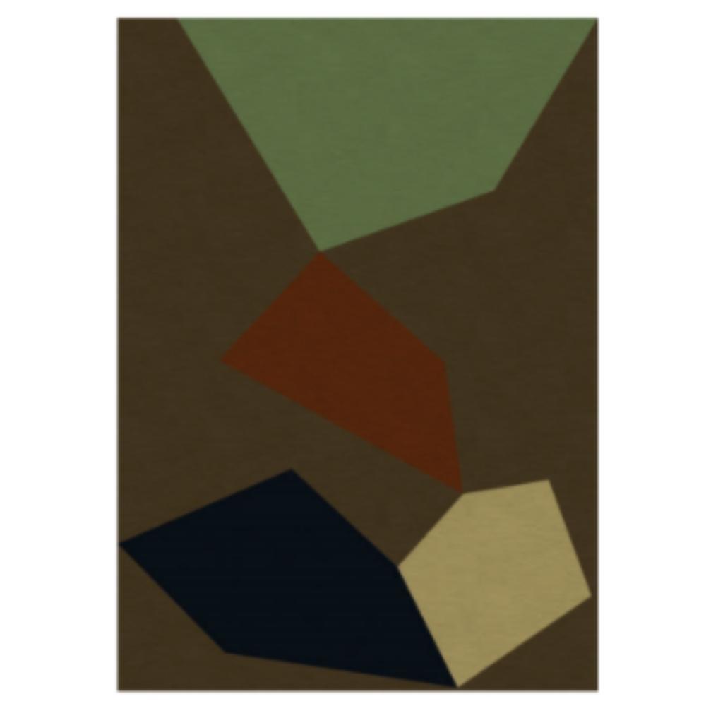 Tapete Tangram Design Assinado Marion Kopel para Decoralle.