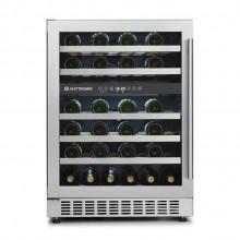 Adega Elettromec para 45 Garrafas de Vinho em Inox de embutir dual zone bivolt
