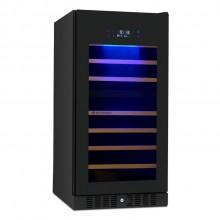 Adega Vetro 87 garrafas dual zone Built in preta com iluminação LED 220v Elettromec
