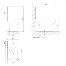 Bacia Sanitária Axis Total Clean para Caixa Acoplada Deca