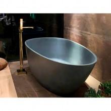 Banheira de Imersão Angra Sabbia Cinza Rústico Minimalista