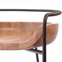 Banquinho Bowl Fyp Design Eduardo Vale Madeira Aço