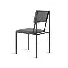 Cadeira Biguá Molio Design Assinado Aço Pintura e Estofado