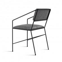 Cadeira Estofada Sabiá Molio Design Assinado Aço Carbono