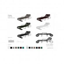 Chaise Elo por Filipe Ramos Design possui base e tubos de aço com pintura eletrostatica