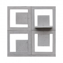 cobogos cimenticios itacoá cube gauss 40x40