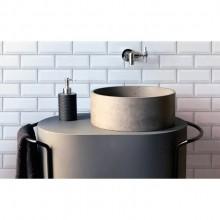 Cuba de Concreto redonda colorida para banheiro e lavabo