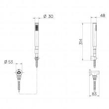 Ducha Manual C30 para Chuveiro Docol Chroma com Desviador