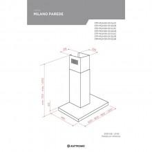 Coifa Milano Parede Elettromec 60cm 127V/220V Compacta Titanium