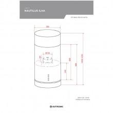 Coifa Nautilus Ilha Elettromec 35cm 220V Gourmet Titanium