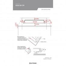Cooktop Sole Gás 60cm Inox Bivolt Elettromec