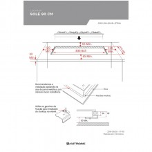 Cooktop Sole 90 cm Inox Bivolt Elettromec