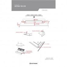 Cooktop Vetro Vitroceramico Preto 110cm Bivolt Elettromec