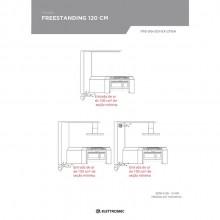 Fogão Freestanding Argenta 120cm 220V Elettromec Titanium