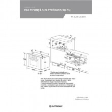 Forno Luce Multifunção Eletrônico 90cm 220V Elettromec Titanium