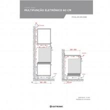 Forno Nero Eletrônico Multifunção 60cm 220V Elettromec Titanium