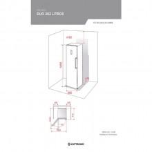 Frezeer Duo Inox 262 litros 220v Elettromec